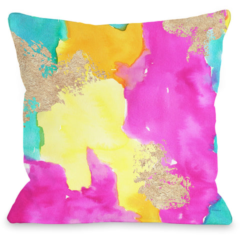 """Color Splash"" Outdoor Throw Pillow by lezleeelliot, 16""x16"""