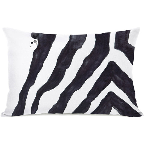 """Stripey Zebra"" Outdoor Throw Pillow by lezleeelliot, 14""x20"""