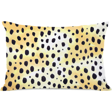 """Wild Animal"" Outdoor Throw Pillow by lezleeelliot, 14""x20"""