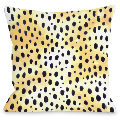 """Wild Animal"" Outdoor Throw Pillow by lezleeelliot, 16""x16"""