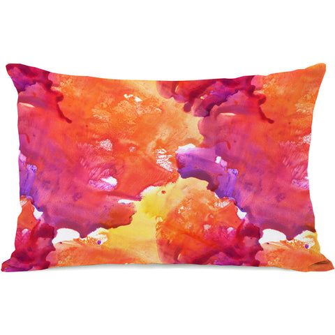 """Neon Sunset"" Outdoor Throw Pillow by OneBellaCasa, 14""x20"""