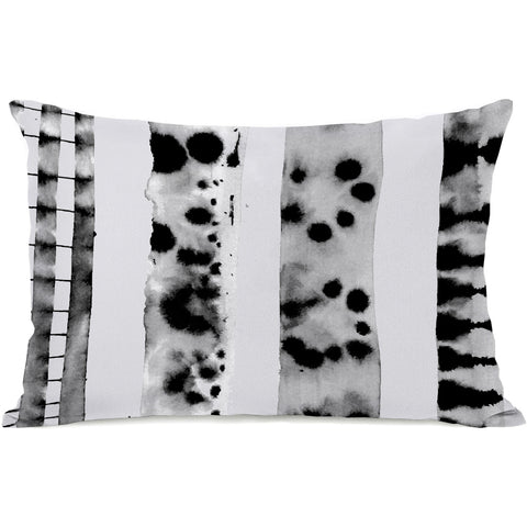 """Splotch Lines"" Outdoor Throw Pillow by OneBellaCasa, 14""x20"""