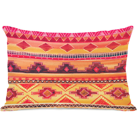 """Tequila Sunrise"" Outdoor Throw Pillow by OneBellaCasa, 14""x20"""