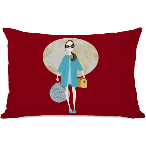 """Come Fly With Me"" Indoor Throw Pillow by April Heather Art, 14""x20"""