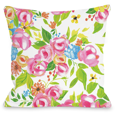 """Flower Buds"" Indoor Throw Pillow by April Heather Art, 16""x16"""