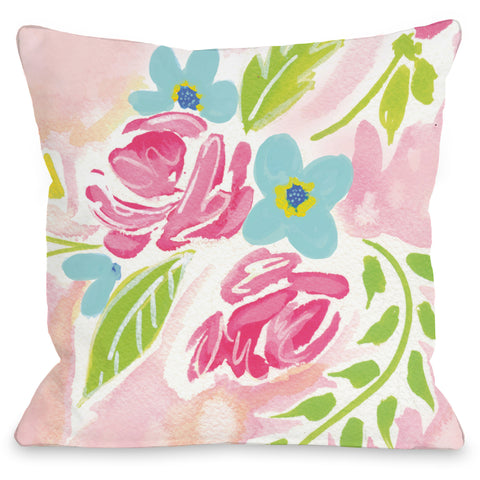 """Rachel Flowers"" Indoor Throw Pillow by April Heather Art, 16""x16"""