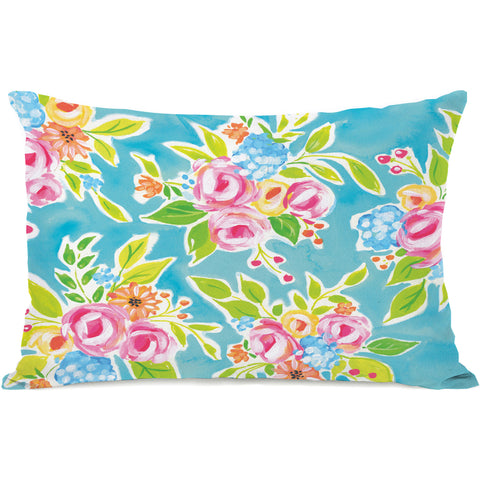 """Tiffany Flowers"" Indoor Throw Pillow by April Heather Art, 14""x20"""