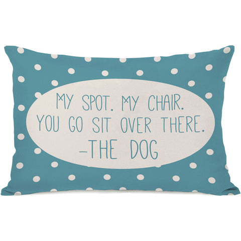 """My Spot My Chair"" Indoor Throw Pillow by OneBellaCasa, 14""x20"""