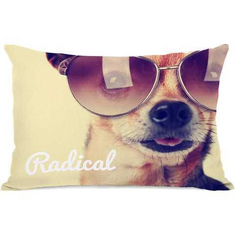 """Radical Pup"" Indoor Throw Pillow by OneBellaCasa, 14""x20"""