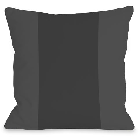 """Color Block"" Outdoor Throw Pillow by OneBellaCasa, Charcoal, 16""x16"""