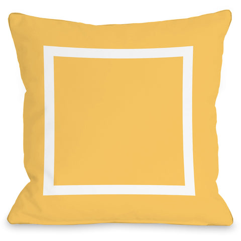"""Open Box"" Outdoor Throw Pillow by OneBellaCasa, Charcoal, 16""x16"""