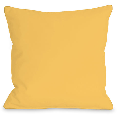 """Solid Color"" Outdoor Throw Pillow by OneBellaCasa, Charcoal, 16""x16"""