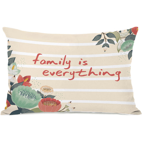"""Family Is Everything"" Indoor Throw Pillow by OneBellaCasa, 14""x20"""