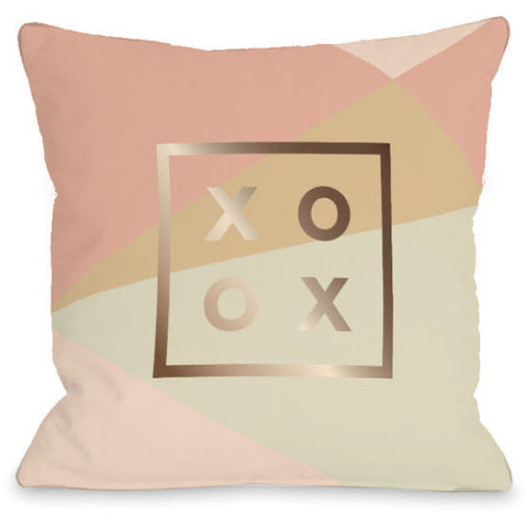 """XO Geo"" Indoor Throw Pillow by OneBellaCasa, 16""x16"""