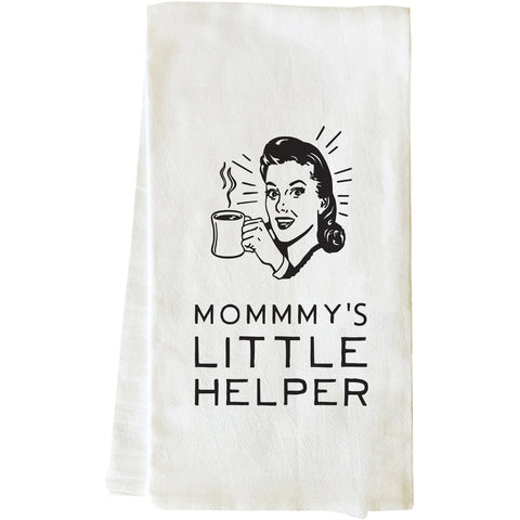"""Mommy's Little Helper"" Tea Towel by OneBellaCasa"