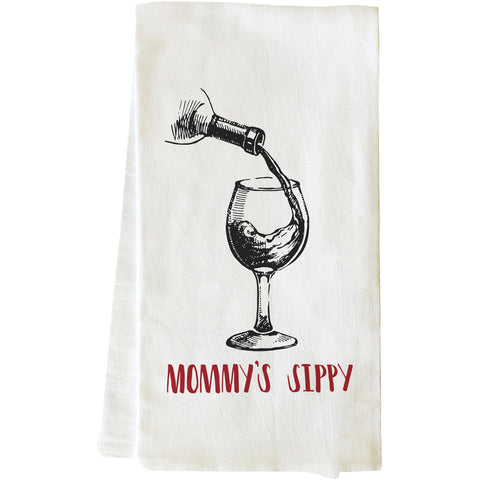 """Mommy's Sippy"" Tea Towel by OneBellaCasa"