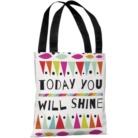 """Today You Will Shine"" 18""x18"" Tote Bag by Susan Claire"