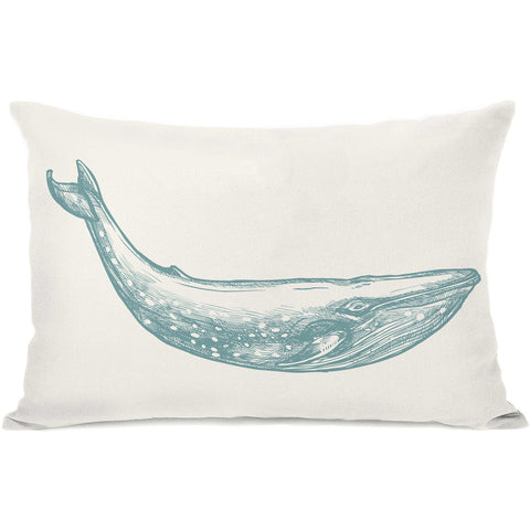 """Natural Whale"" Indoor Throw Pillow by OneBellaCasa, 14""x20"""