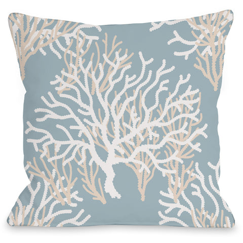 """Coral Pattern"" Indoor Throw Pillow by OneBellaCasa, 16""x16"""