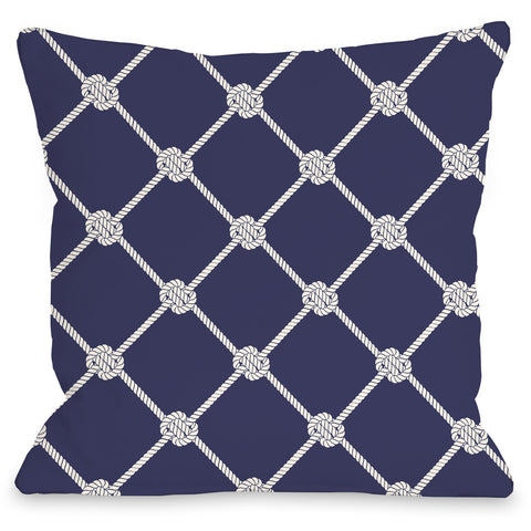 """Nautical Rope Pattern"" Indoor Throw Pillow by OneBellaCasa, 16""x16"""
