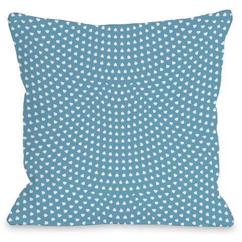 """Scalloped Dots"" Indoor Throw Pillow by OneBellaCasa, 16""x16"""