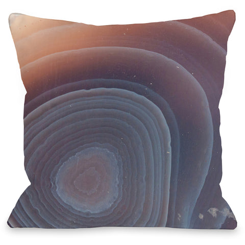 """Agate Mineral"" Indoor Throw Pillow by OneBellaCasa, 16""x16"""