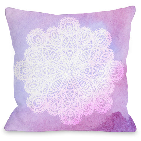 """Doily Dream"" Indoor Throw Pillow by OneBellaCasa, 16""x16"""