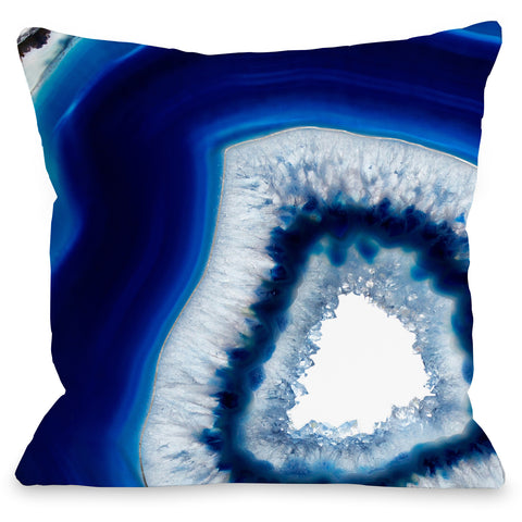 """Geode Abyss Silver"" Indoor Throw Pillow by OneBellaCasa, 16""x16"""