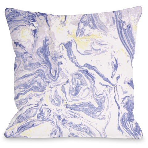 """Marble Meadow"" Indoor Throw Pillow by OneBellaCasa, 16""x16"""