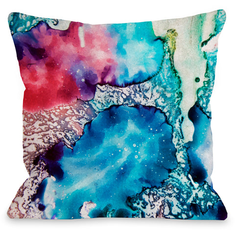 """Psychadelic Color"" Outdoor Throw Pillow by OneBellaCasa, 16""x16"""