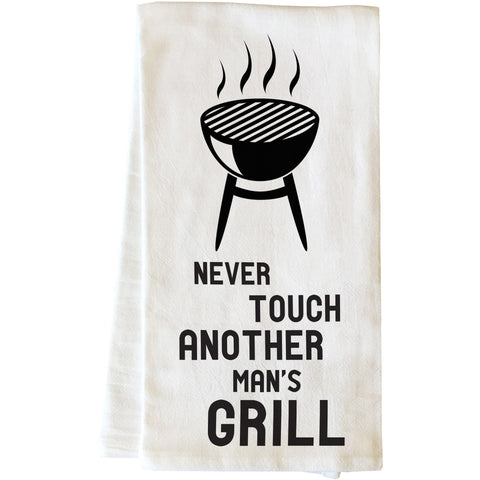 """Another Mans Grill"" Tea Towel by OneBellaCasa"