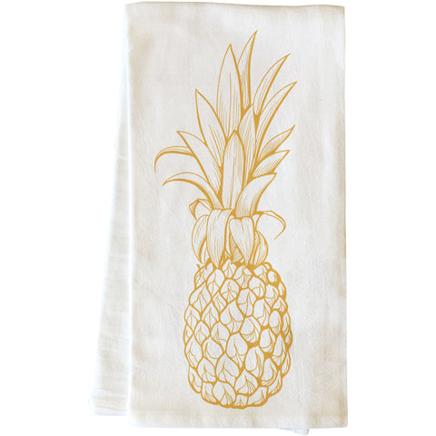 """Golden Pine"" Tea Towel by OneBellaCasa"