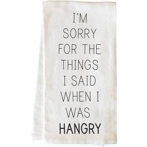 """When I Was Hangry"" Tea Towel by OneBellaCasa"