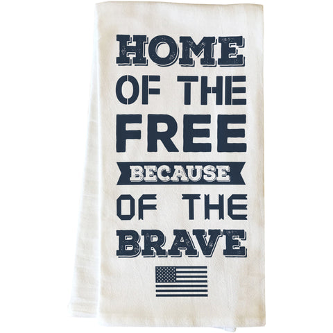 """Home Of The Free"" Tea Towel by OneBellaCasa"