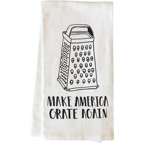 """Make America Grate Again"" Tea Towel by OneBellaCasa"
