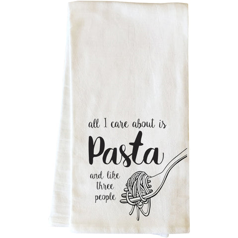 """All I Care About Is Pasta"" Tea Towel by OneBellaCasa"
