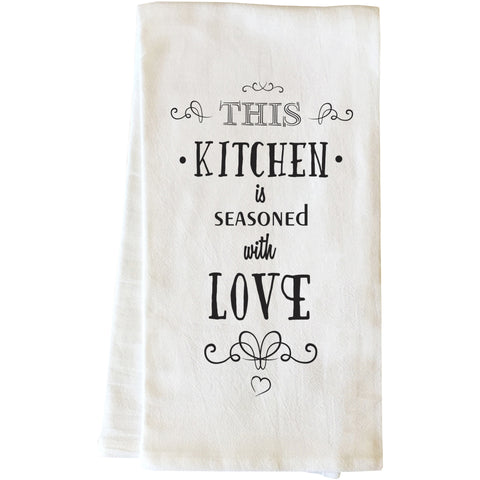 """Seasoned With Love"" Tea Towel by OneBellaCasa"