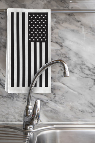 """USA Flag"" Tea Towel by OneBellaCasa"