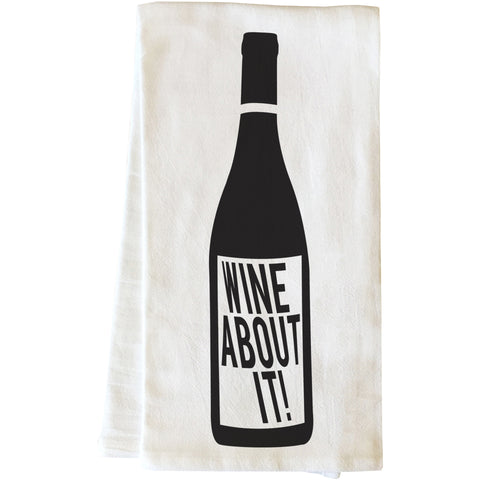 """Wine About It"" Tea Towel by OneBellaCasa"