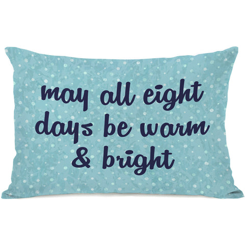 """All Eight Days"" Indoor Throw Pillow by OneBellaCasa, 14""x20"""
