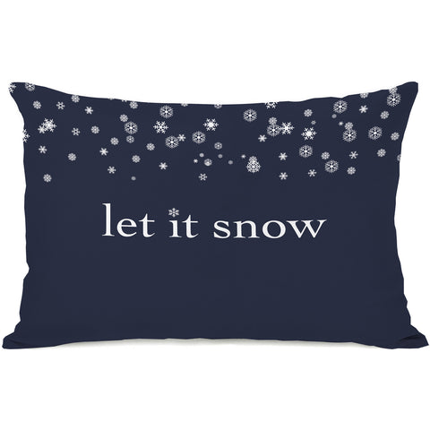 """Let It Snow"" Indoor Throw Pillow by OneBellaCasa, 14""x20"""