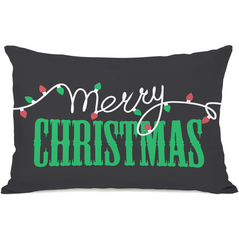 """Merry Christmas Light Strand"" Indoor Throw Pillow by OneBellaCasa, 14""x20"""