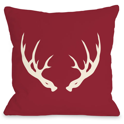 """Huntsman Antlers"" Indoor Throw Pillow by OneBellaCasa, 16""x16"""