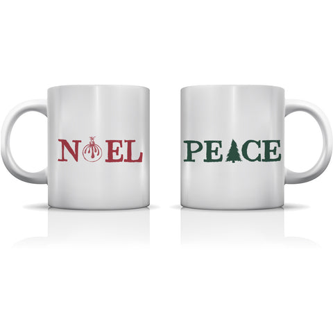 """Noel & Peace"" Set of Mugs by OneBellaCasa"