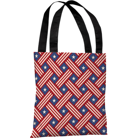 """Patriot Pattern"" 18""x18"" Tote Bag by OneBellaCasa"