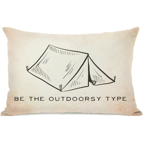 """Be The Outdoorsy"" Outdoor Throw Pillow by OneBellaCasa, 14""x20"""