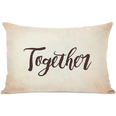 """Together"" Indoor Throw Pillow by OneBellaCasa, 14""x20"""