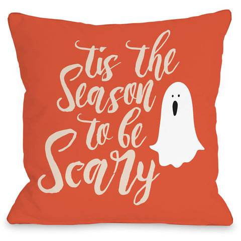 """Tis The Season To Be Scary"" Indoor Throw Pillow by OneBellaCasa, 16""x16"""