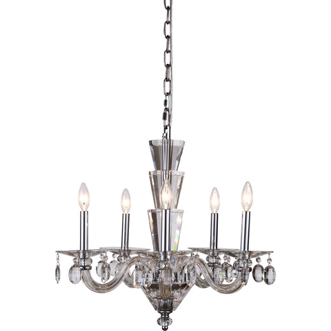 "Augusta 23"" Diam Chandelier, Chrome Finish"