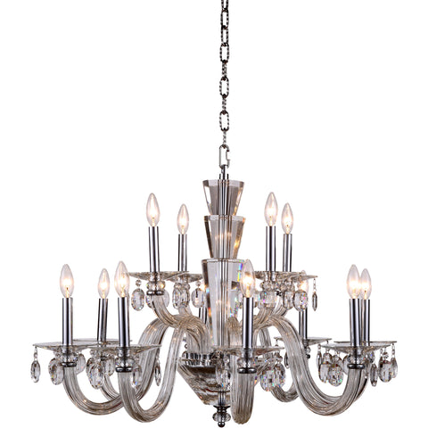 "Augusta 32"" Diam Chandelier, Chrome Finish"